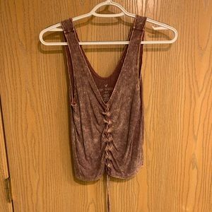 American eagle lace up cinch tank top